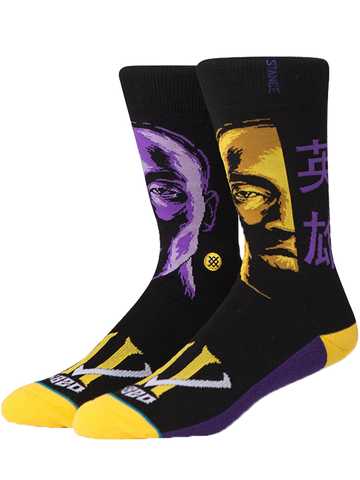 Los Angeles Lakers Kobe Bryant Faces Socks