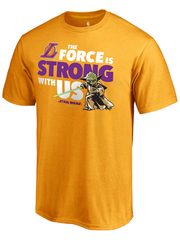 Los Angeles Lakers Jedi Strong Star Wars T-Shirt