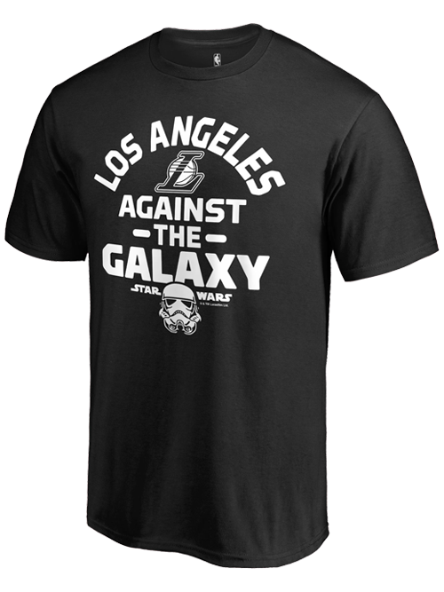 Los Angeles Lakers Against the Galaxy Star Wars T-Shirt
