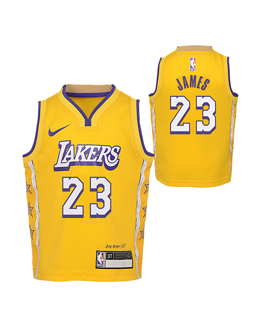 Los Angeles Lakers Kids City Edition LeBron James Jersey - Gold