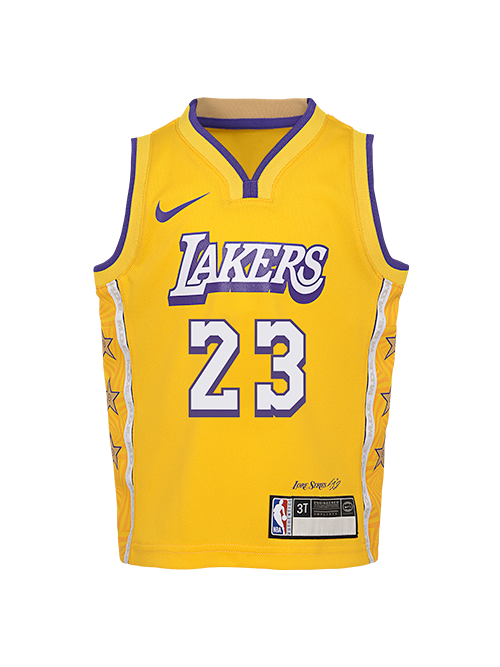 Los Angeles Lakers Toddler City Edition LeBron James Jersey - Gold