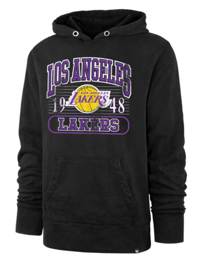 Los Angeles Lakers Franconia Vintage Crosby Hoody - Black