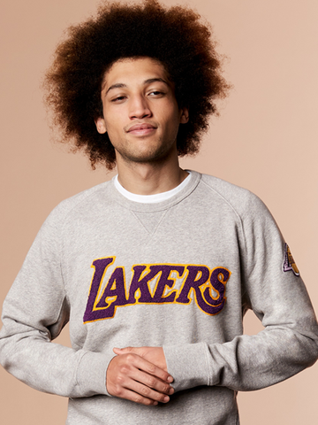 Los Angeles Lakers Mens Fleece Crew