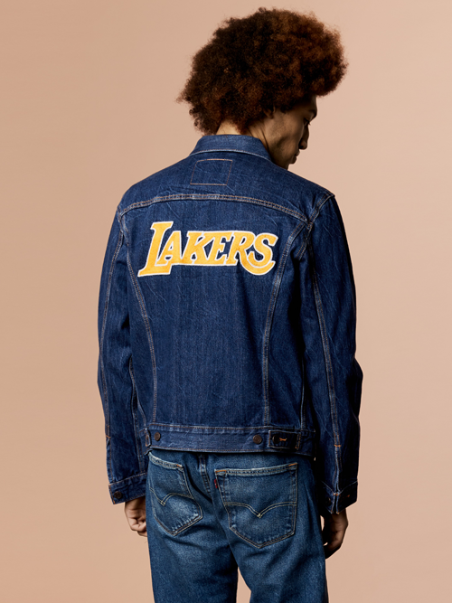 Los Angeles Lakers Denim Trucker