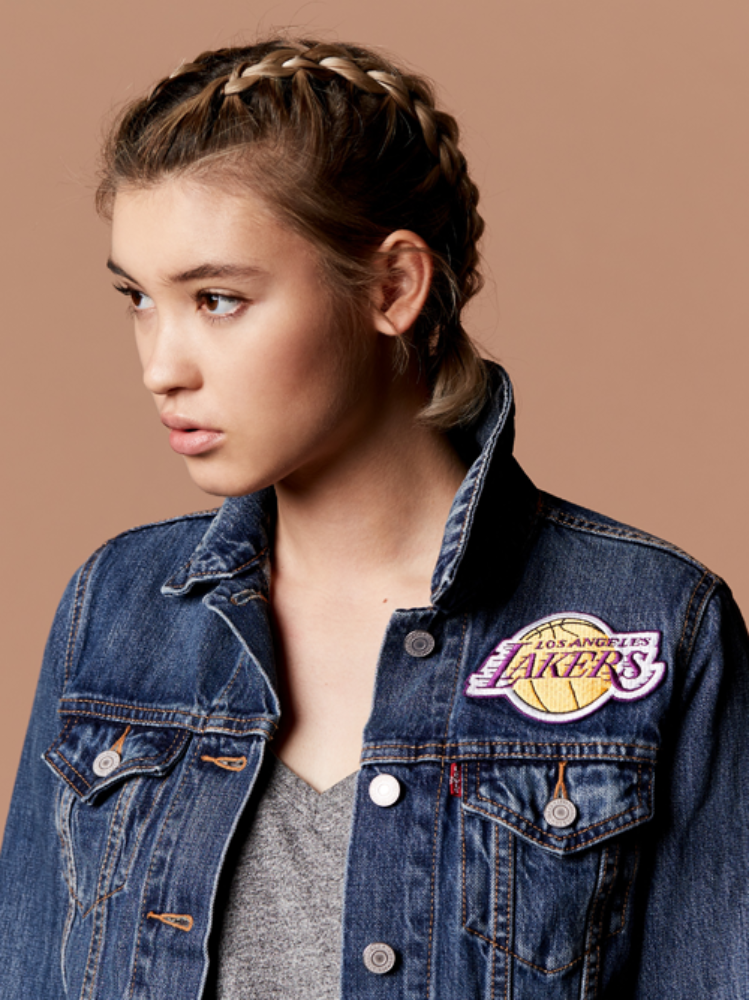 Los Angeles Lakers Womens Denim Trucker Jacket