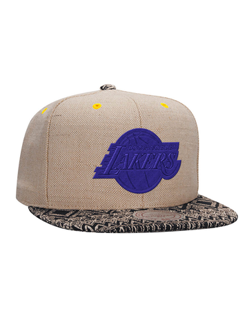 Los Angeles Lakers Hemp Crown Strapback Cap