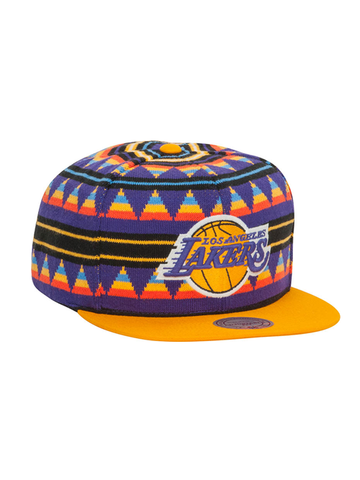Los Angeles Lakers Mixtec Snapback Cap