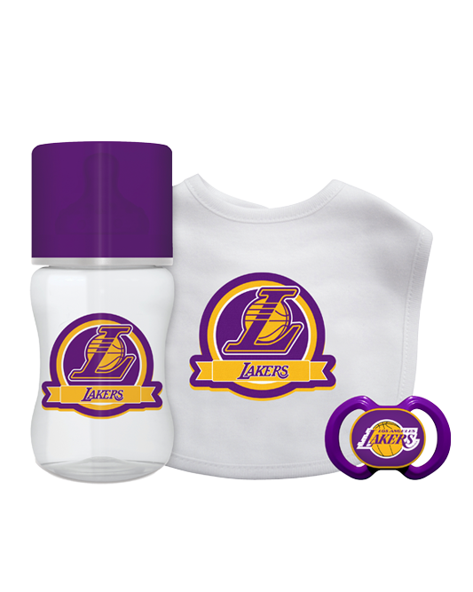 Los Angeles Lakers Baby Gift Set - 3 piece