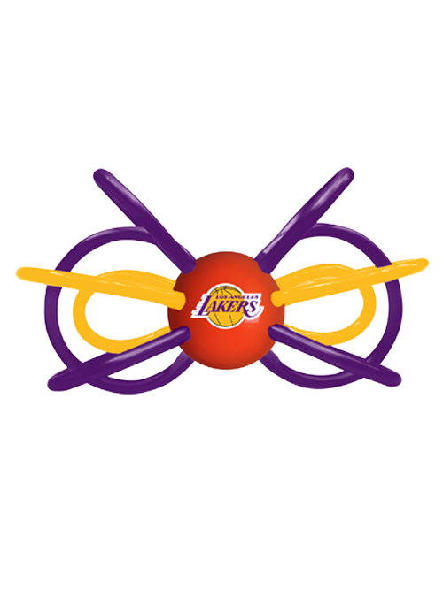 Los Angeles Lakers Teether and Rattle Set
