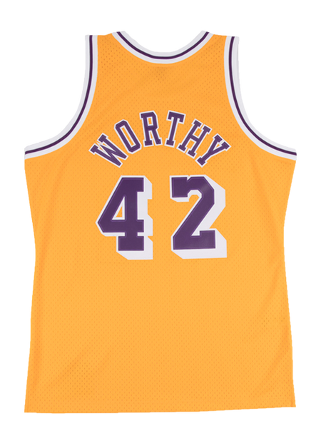 check out 29e07 42d78 Los Angeles Lakers James Worthy Swingman Jersey