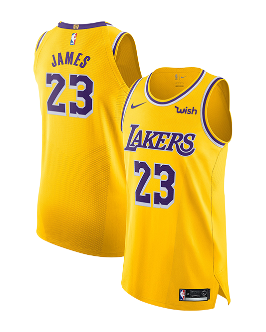 Los Angeles Lakers LeBron James Icon Edition Authentic Jersey