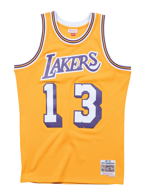 Los Angeles Lakers Wilt Chamberlain Swingman Jersey - Gold