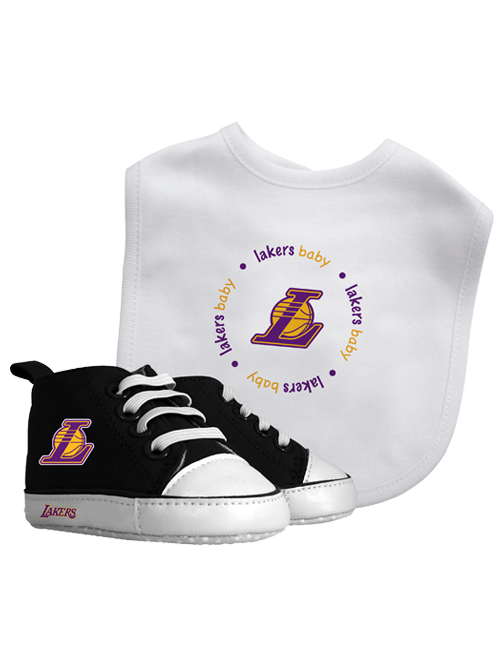 Los Angeles Lakers Bib with Pre Walkers