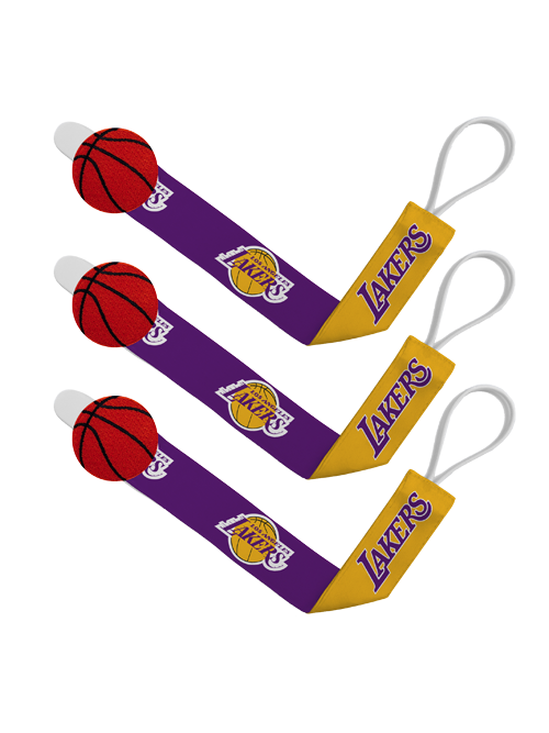 Los Angeles Lakers Pacifier Clip - 3 pack