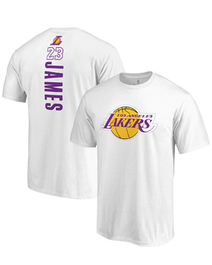 Backer Name & Number LeBron James Los Angeles Lakers Tee