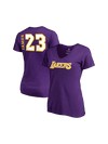 Los Angeles Lakers LeBron James Women's Side Sweep Player V-Neck