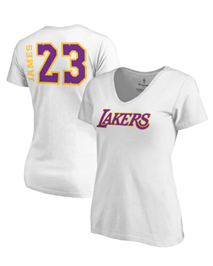 Side Sweep Lakers LeBron James Womens Los Angeles Lakers V-Neck