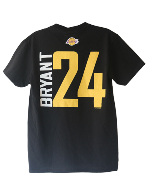Los Angeles Lakers Kobe Bryant Vertical Player T-Shirt- Black