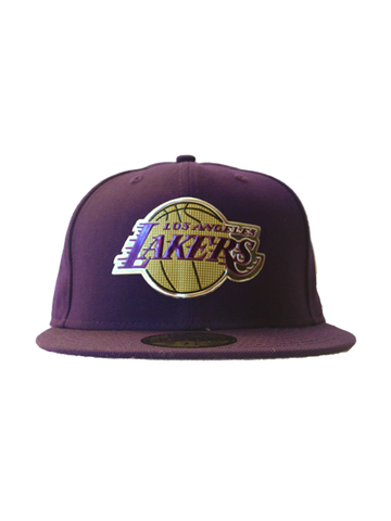 Los Angeles Lakers Primary Logo Liquid Metal Fit Cap