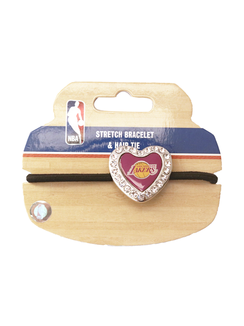 Los Angeles Lakers Heart Stone Bracelet