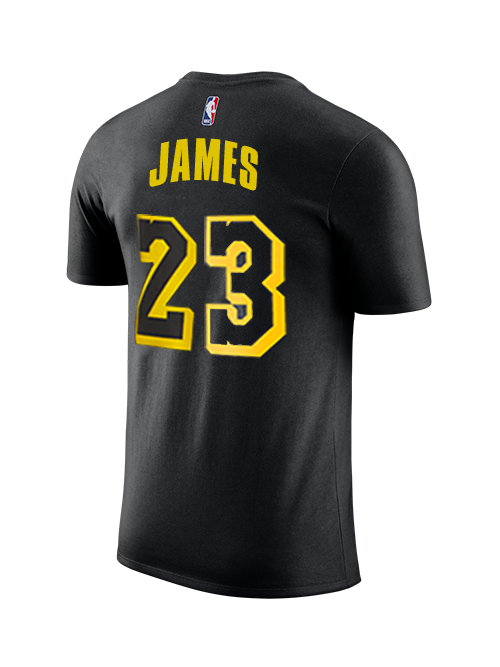2328d6adf Los Angeles Lakers Youth LeBron James City Edition Player T-Shirt ...