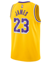 Los Angeles Lakers Youth City Edition LeBron James Jersey - Gold