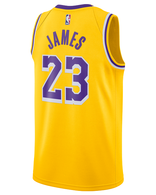 4cef4703951 Los Angeles Lakers LeBron James 2018-19 Icon Edition Swingman Jersey –  Lakers Store