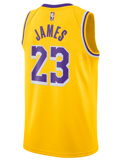Los Angeles Lakers Youth LeBron James Icon Edition Swingman Jersey ...