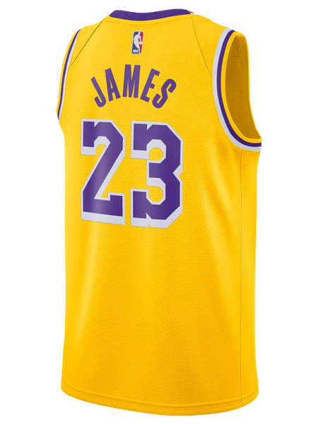0e092b64530 Los Angeles Lakers Youth LeBron James Icon Edition Swingman Jersey – Lakers  Store