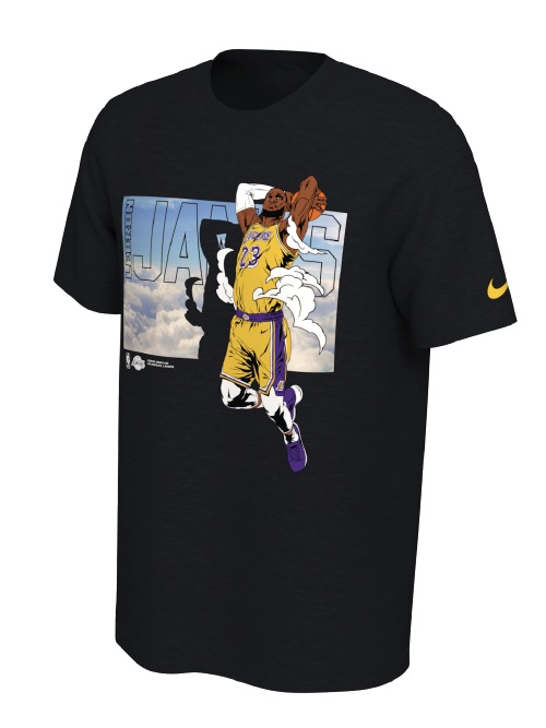 Los Angeles Lakers LeBron James Elevation Pack T-Shirt