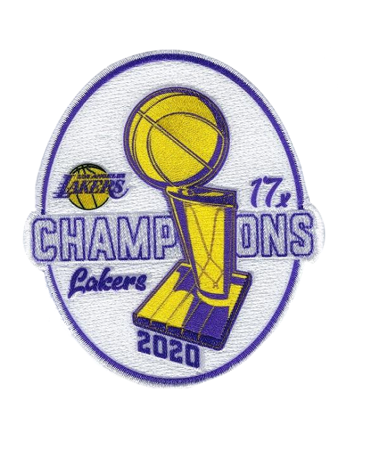 2020 NBA Champions 17x  Los Angeles Lakers Trophy Envy Patch