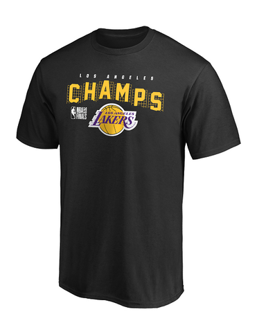 Los Angeles Lakers 2020 NBA Champions Script T-Shirt