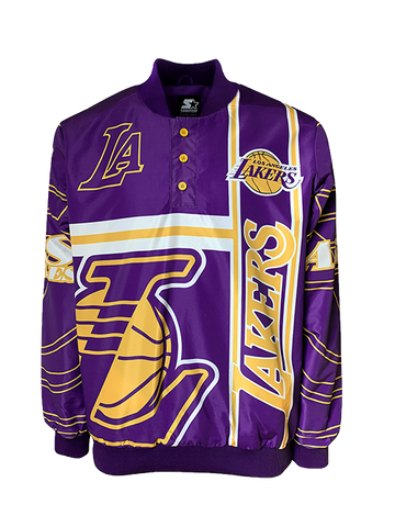 Los Angeles Lakers Transitional Half-Zip Pullover - Black/Gold