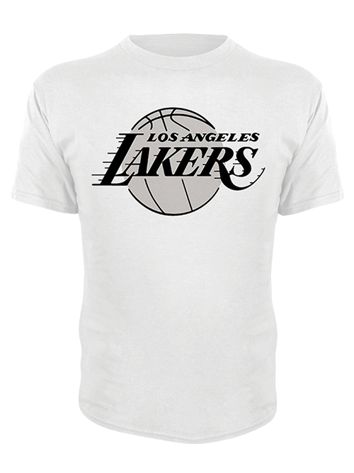 Los Angeles Lakers Logo Crew Neck Short Sleeve Tee - White