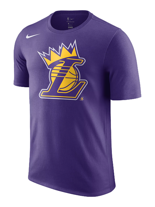 Los Angeles Lakers LeBron James Crown T-Shirt - Purple