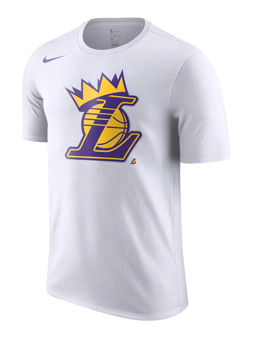 timeless design f0dff c3ddb Los Angeles Lakers LeBron James Crown T-Shirt - White