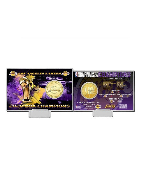 Los Angeles Lakers 2020 NBA Champions Bronze Coin Card