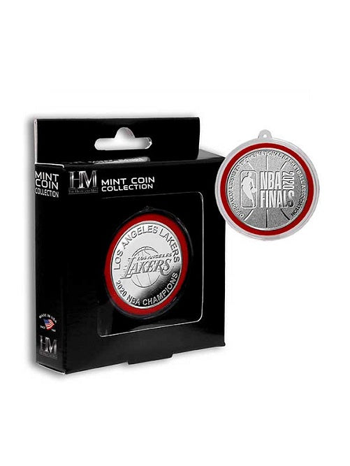 Los Angeles Lakers 2020 NBA Champions Silver Mint Coin Ornament