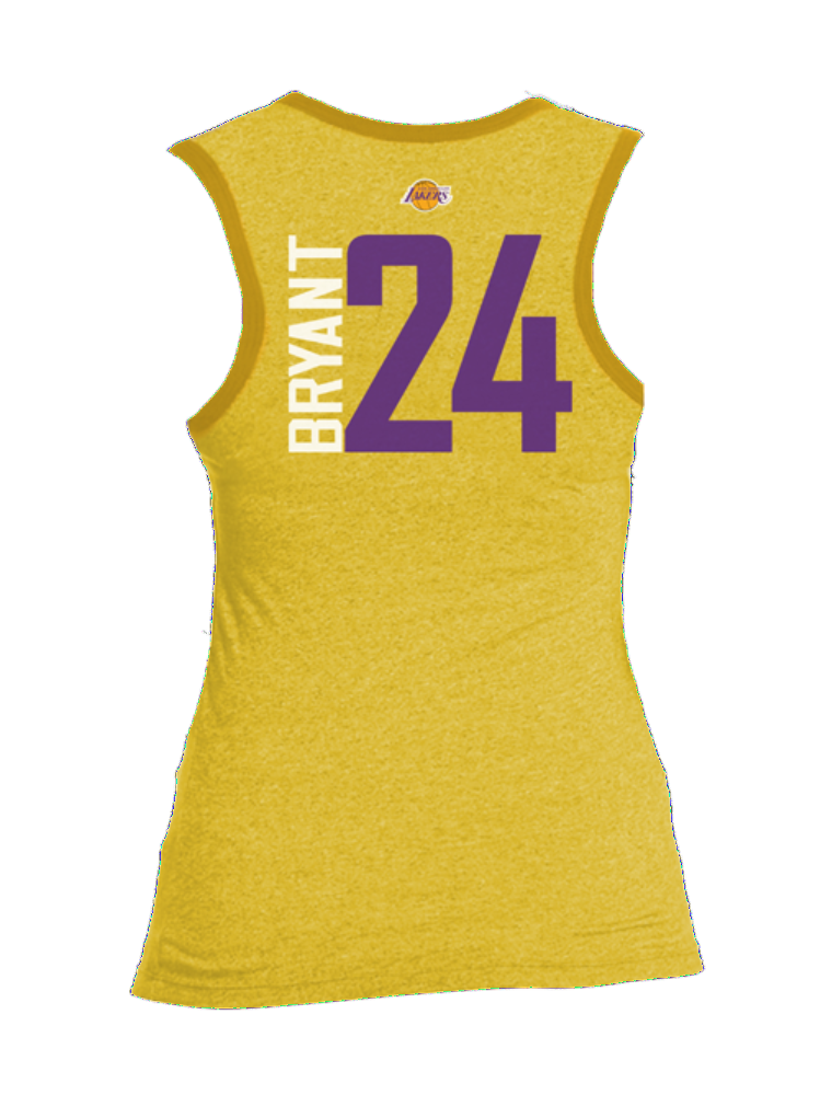 Los Angeles Lakers Women's Kobe Bryant Bling Triblend Tank - Gold