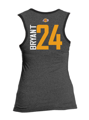 Los Angeles Lakers Women's Kobe Bryant Bling Triblend Tank - Black