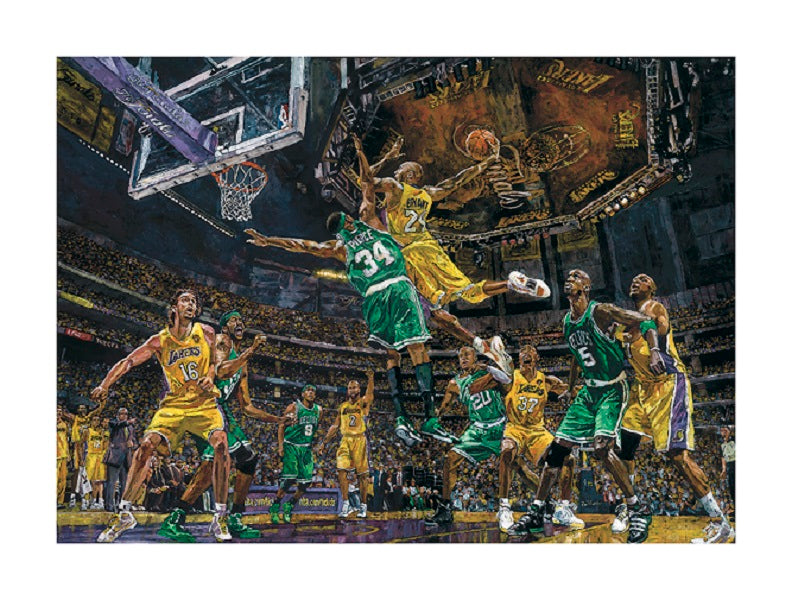 Los Angeles Lakers Limited Edition Framed 2010 Lakers vs Celtics Kobe Bryant Dunk Print