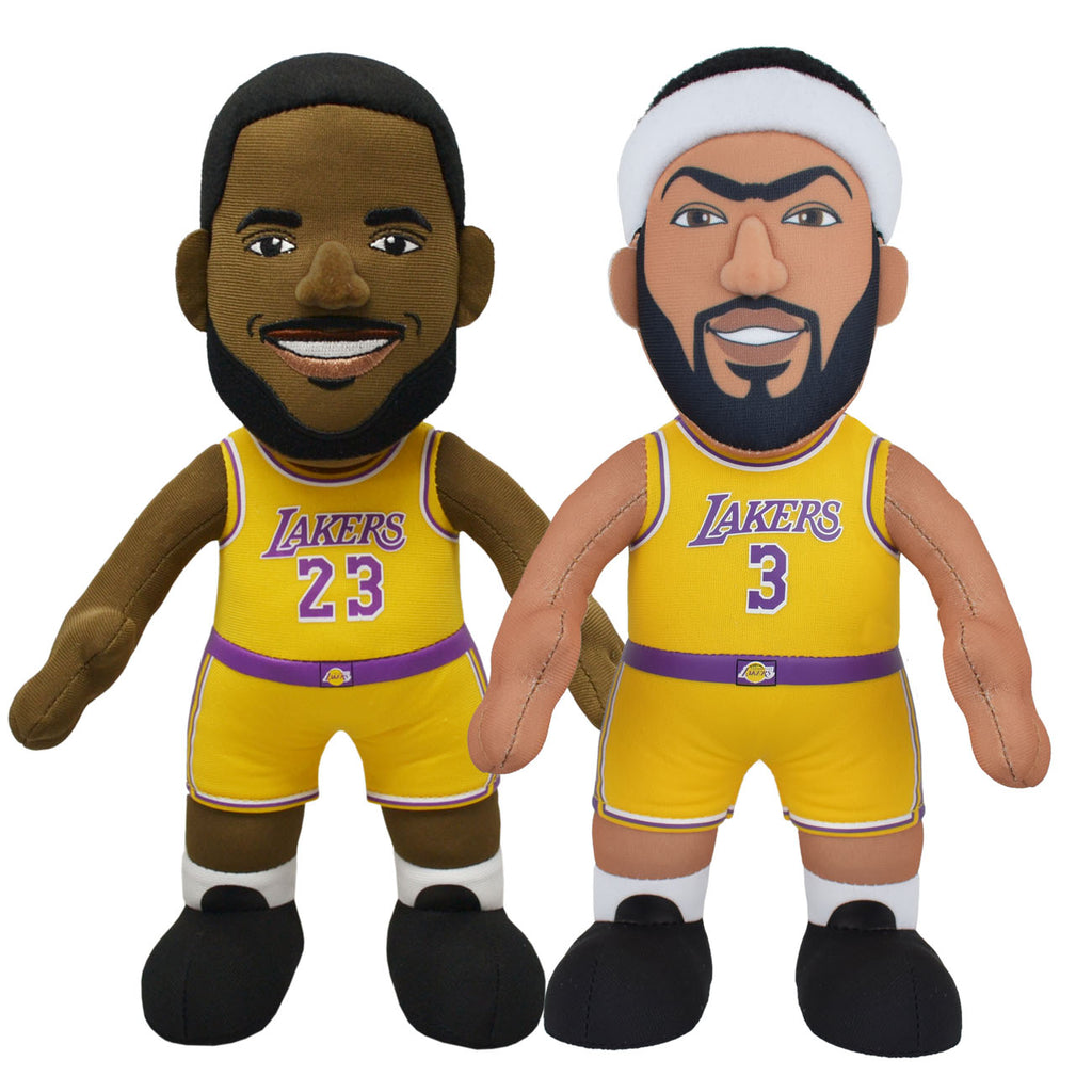 "Los Angeles Lakers Bundle: LeBron James and Anthony Davis 10"" Plush Figures"