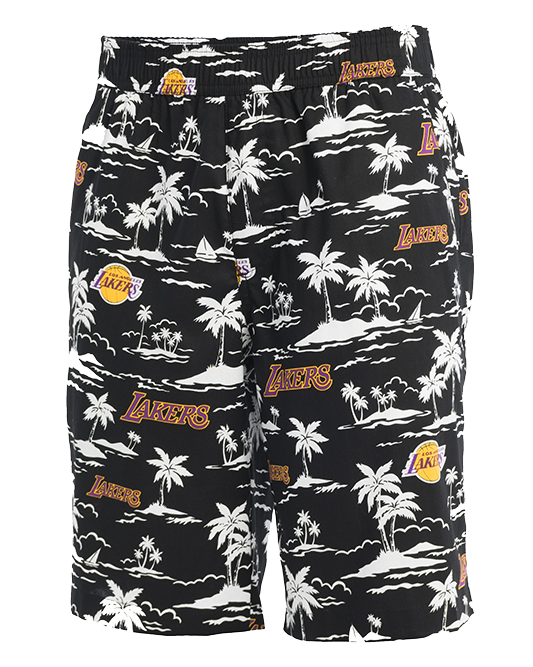 Los Angeles Lakers El West Shorts - Black