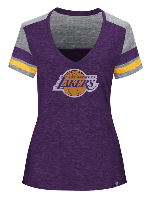 Los Angeles Lakers Women's All My Hearts V-Neck