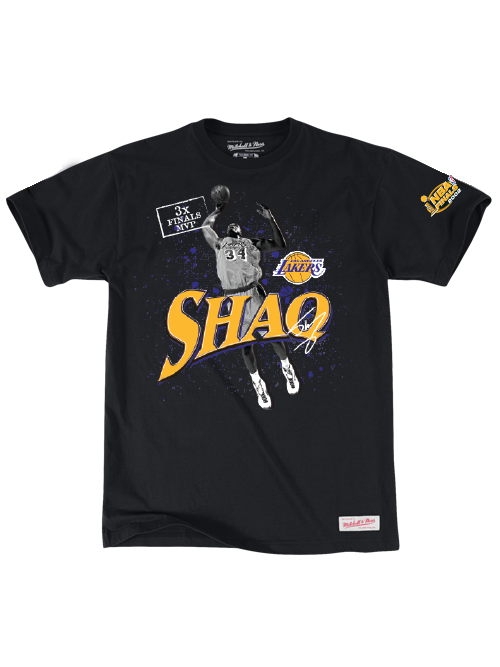 Los Angeles Lakers Shaquille O'Neal 3x Finals MVP T-Shirt