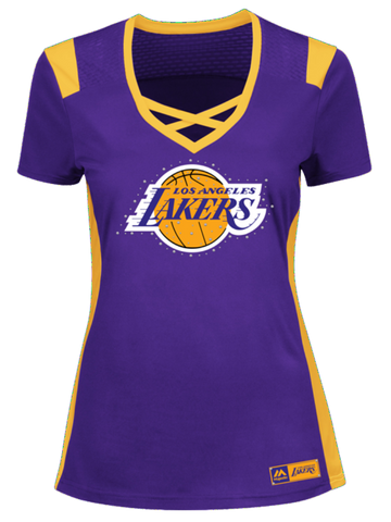 Los Angeles Lakers Women's Draft Mesh Top