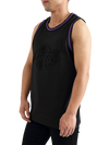Los Angeles Lakers Black Embossed Jersey - Black/Purple