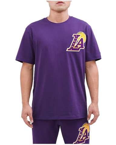 Los Angeles Lakers Black Pyramid Chenille Logo Shirt