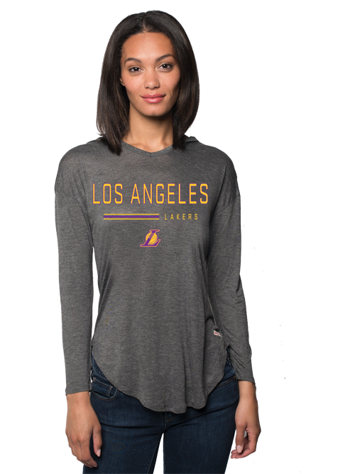 Los Angeles Lakers Womens Sofia Hoodie - Grey
