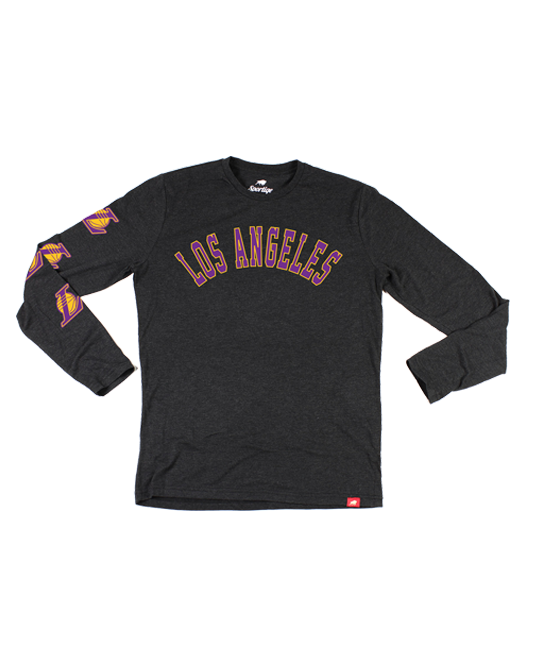 Los Angeles Lakers Comfy LA Long Sleeve T-Shirt - Black